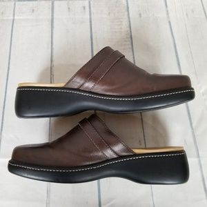 Rockport Mule Slides Brown Leather Sz 9.5M